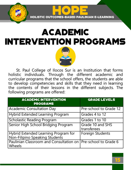 holistic outcomes-based paulinian e-learning 15