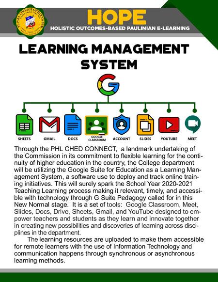 college holistic outcomes-based paulinian e-learning 16