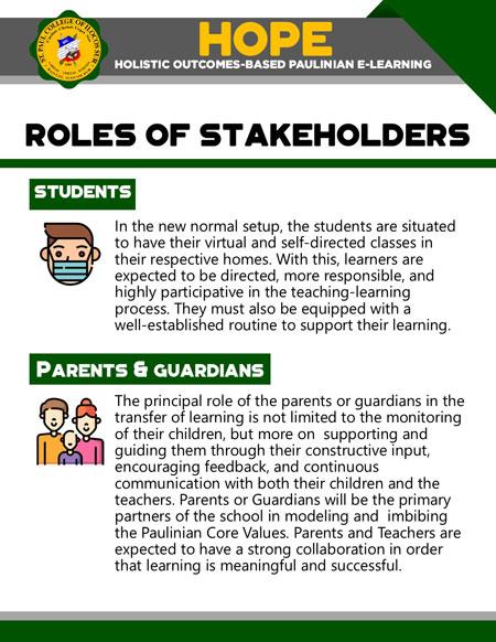 college holistic outcomes-based paulinian e-learning 18